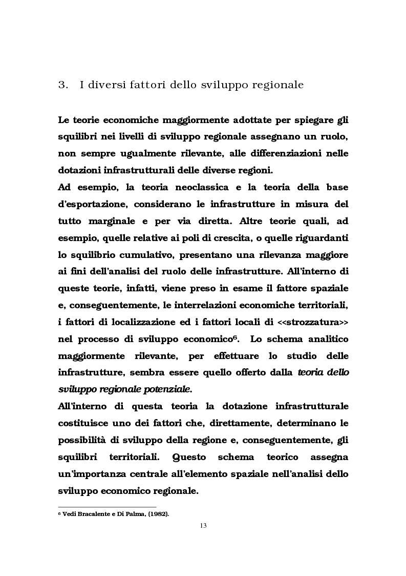 Anteprima della tesi: Il ruolo delle infrastrutture pubbliche nello sviluppo regionale italiano, Pagina 10
