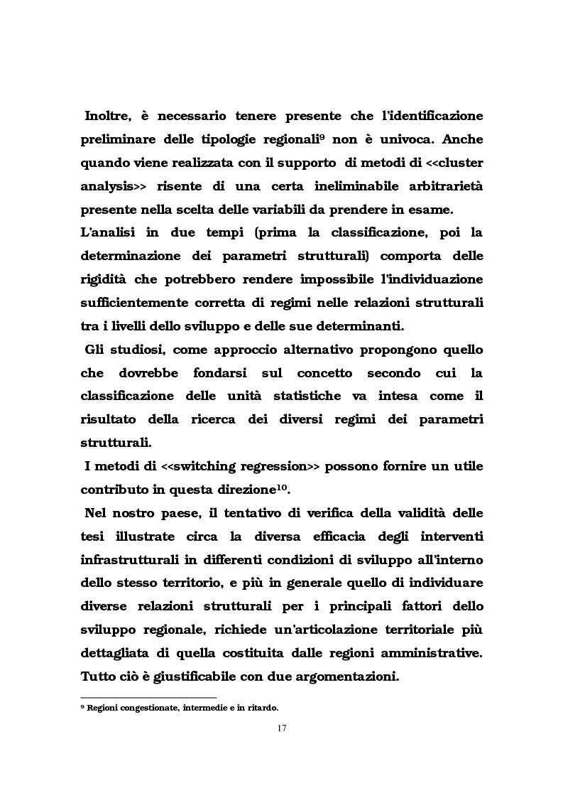 Anteprima della tesi: Il ruolo delle infrastrutture pubbliche nello sviluppo regionale italiano, Pagina 14