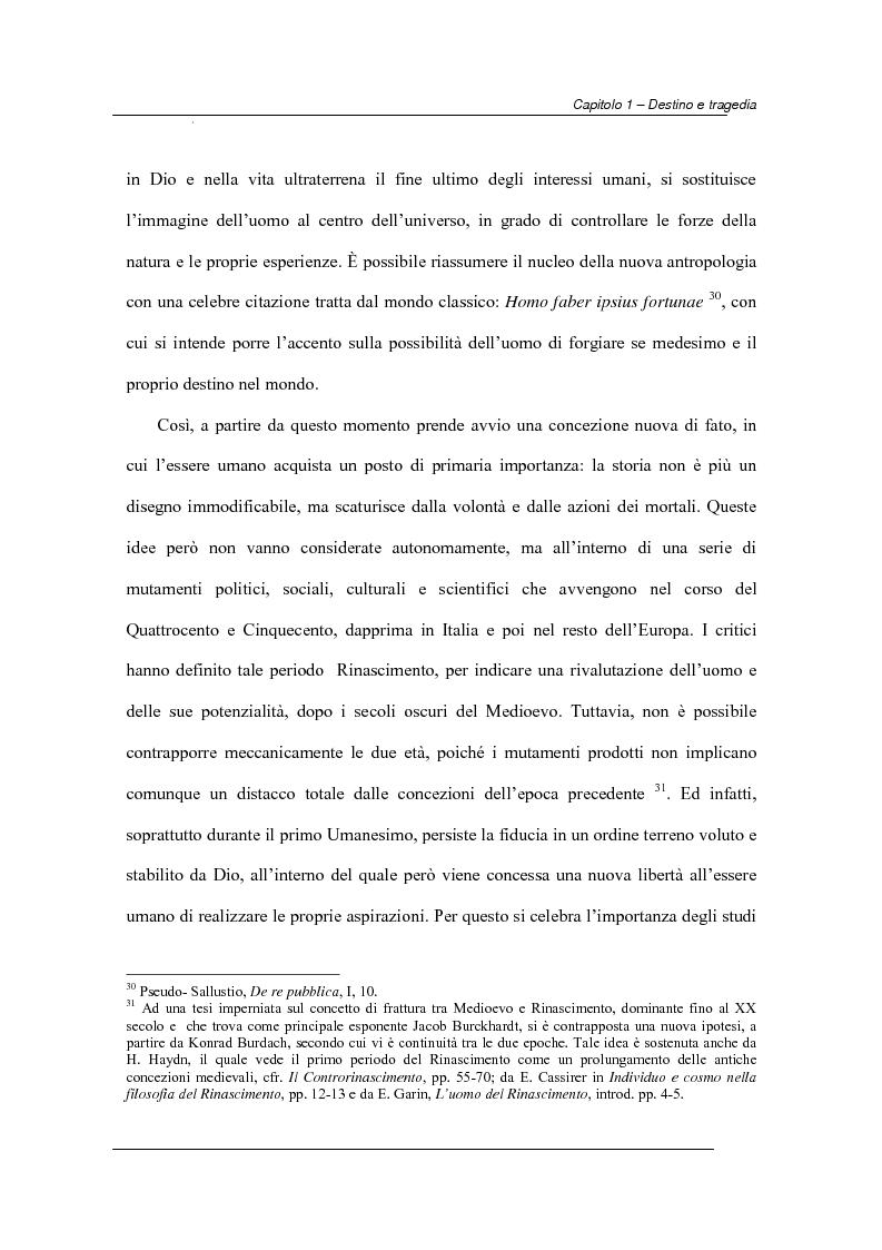 Anteprima della tesi: Antiche e moderne idee di destino nella tragedia elisabettiana e giacomiana con particolare riferimento all'opera di John Webster, Pagina 11