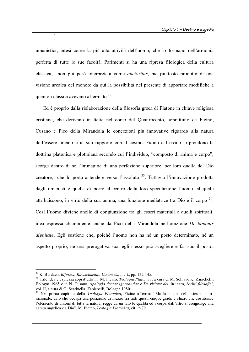 Anteprima della tesi: Antiche e moderne idee di destino nella tragedia elisabettiana e giacomiana con particolare riferimento all'opera di John Webster, Pagina 12