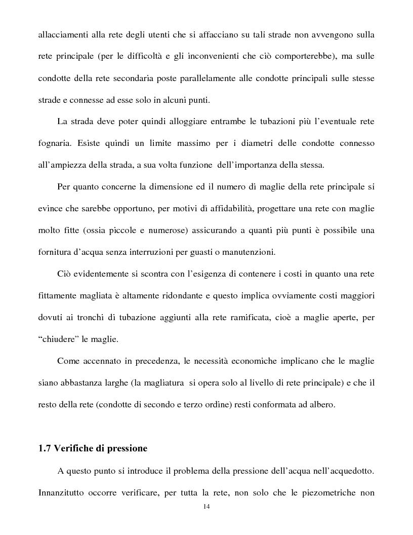 Anteprima della tesi: Calcolo delle reti idrauliche in pressione mediante una tecnica mista algoritmi genetici / metodo Gauss-Newton, Pagina 12
