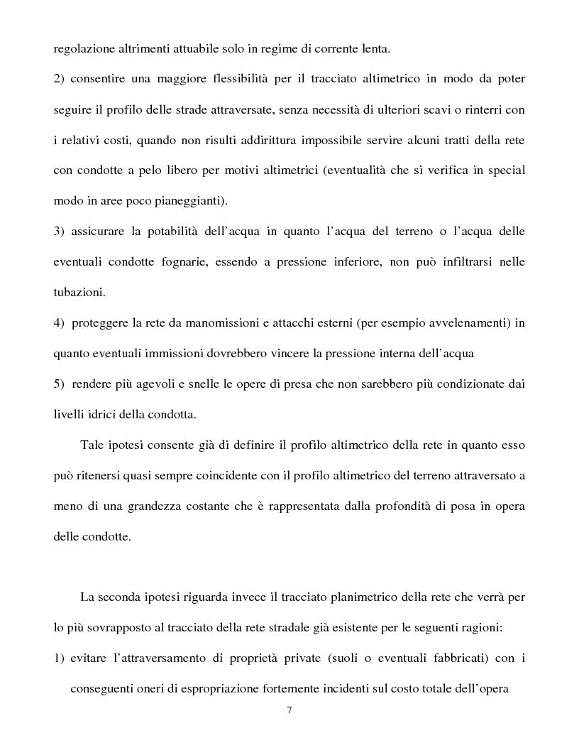 Anteprima della tesi: Calcolo delle reti idrauliche in pressione mediante una tecnica mista algoritmi genetici / metodo Gauss-Newton, Pagina 5