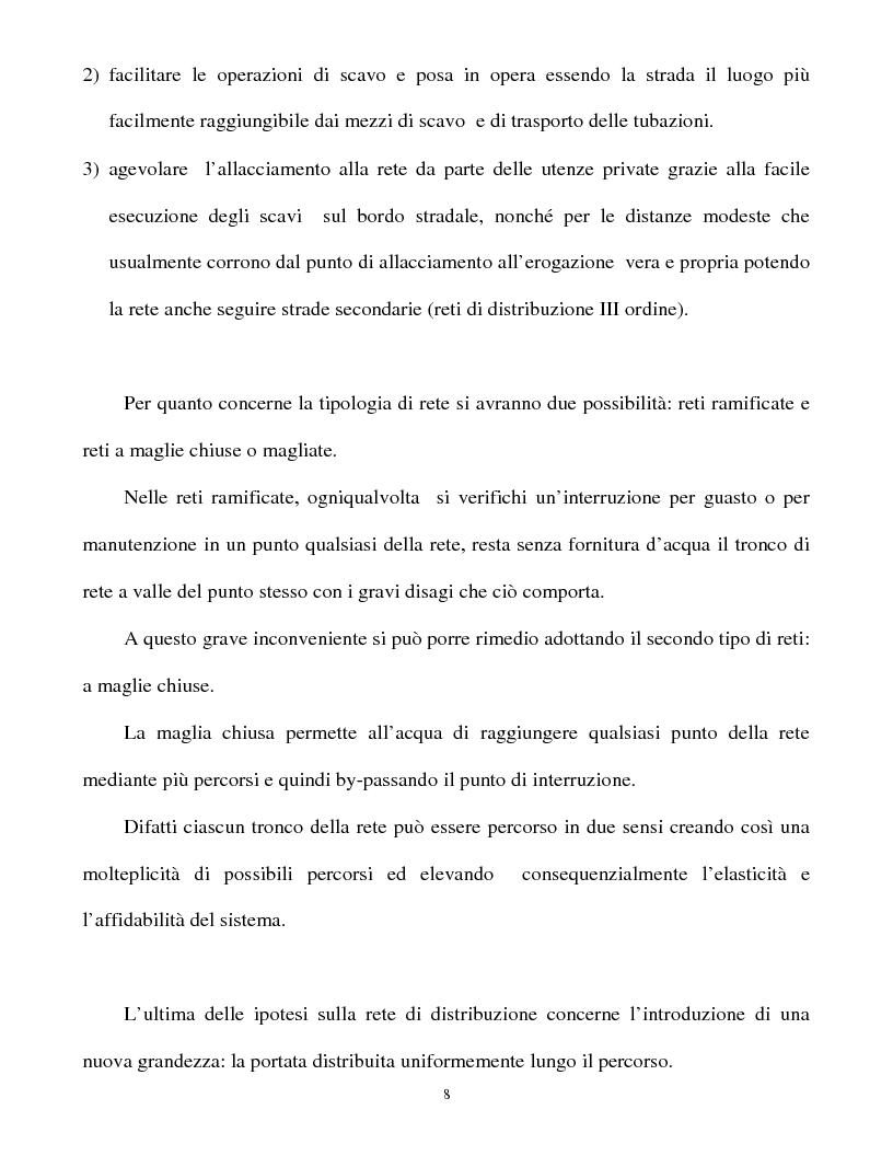Anteprima della tesi: Calcolo delle reti idrauliche in pressione mediante una tecnica mista algoritmi genetici / metodo Gauss-Newton, Pagina 6