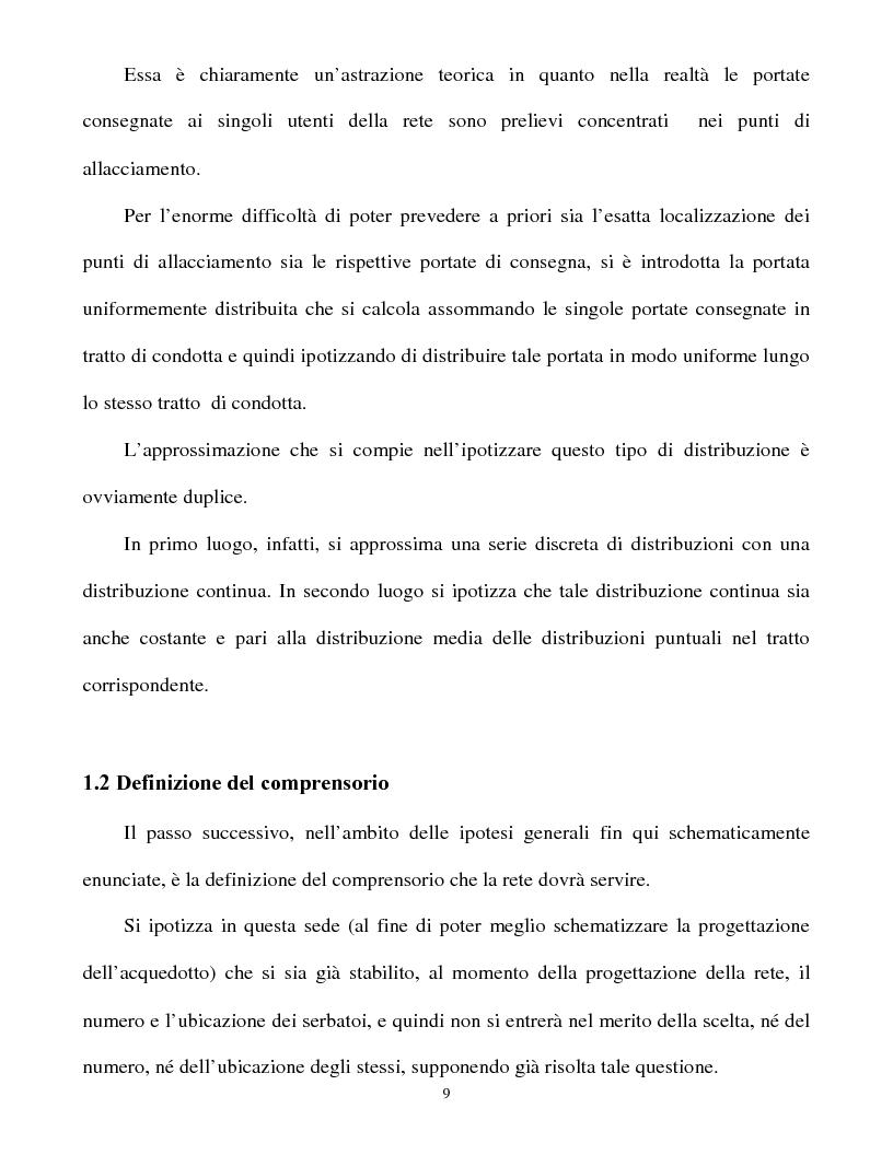 Anteprima della tesi: Calcolo delle reti idrauliche in pressione mediante una tecnica mista algoritmi genetici / metodo Gauss-Newton, Pagina 7