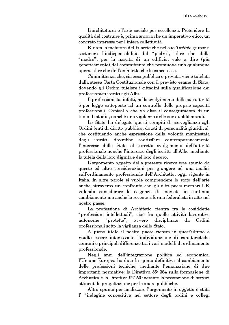 Anteprima della tesi: Riforma degli ordini e specificità degli architetti, Pagina 2