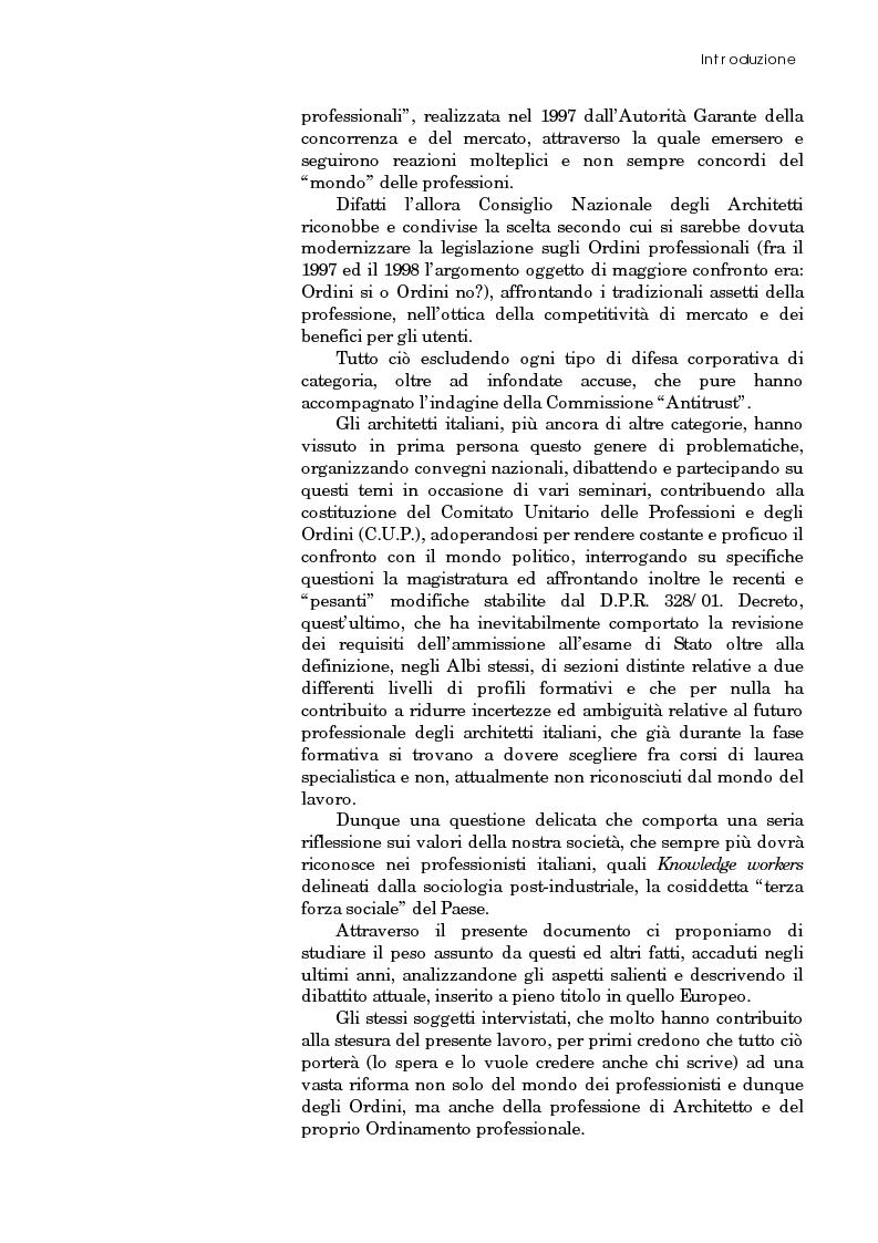 Anteprima della tesi: Riforma degli ordini e specificità degli architetti, Pagina 3