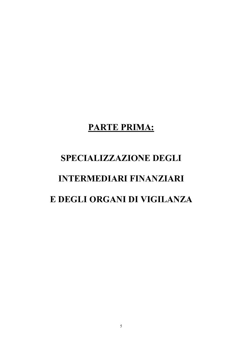 Anteprima della tesi: Controlli di vigilanza e sviluppo dei conglomerati finanziari, Pagina 5