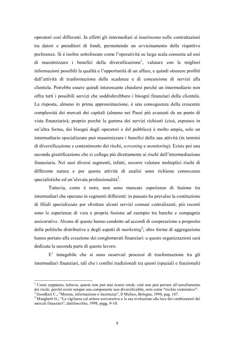 Anteprima della tesi: Controlli di vigilanza e sviluppo dei conglomerati finanziari, Pagina 7