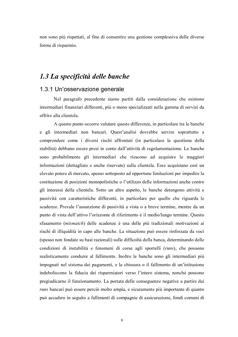 Anteprima della tesi: Controlli di vigilanza e sviluppo dei conglomerati finanziari, Pagina 8