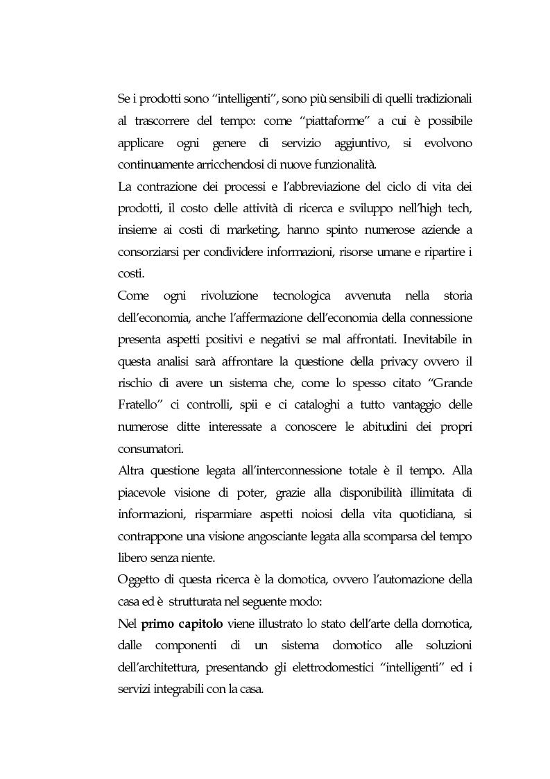 Anteprima della tesi: Domotica: prospettive di diffusione e impatti di una possibile rivoluzione e il punto di vista delle aziende, Pagina 3