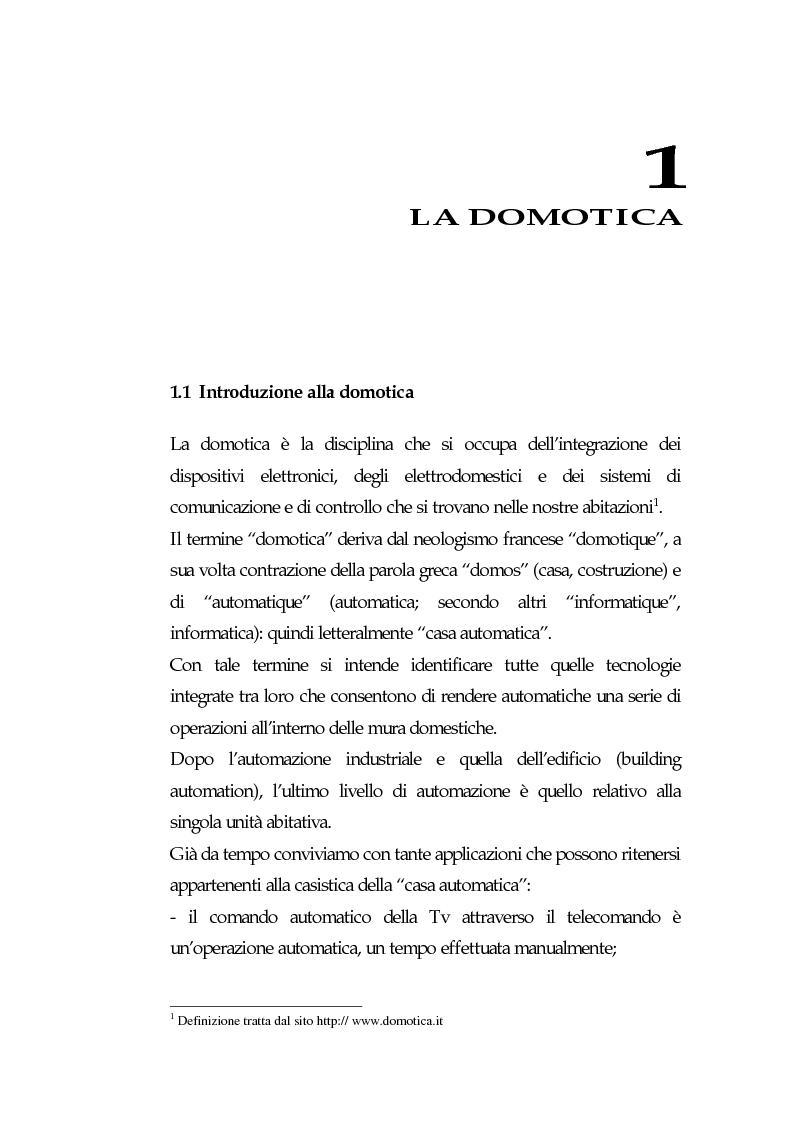 Anteprima della tesi: Domotica: prospettive di diffusione e impatti di una possibile rivoluzione e il punto di vista delle aziende, Pagina 5