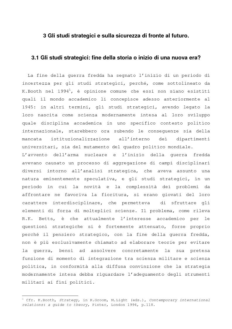 Anteprima della tesi: Gi studi strategici e sulla sicurezza tra passato, presente e futuro: una, nessuna o due scienze autonome?, Pagina 1