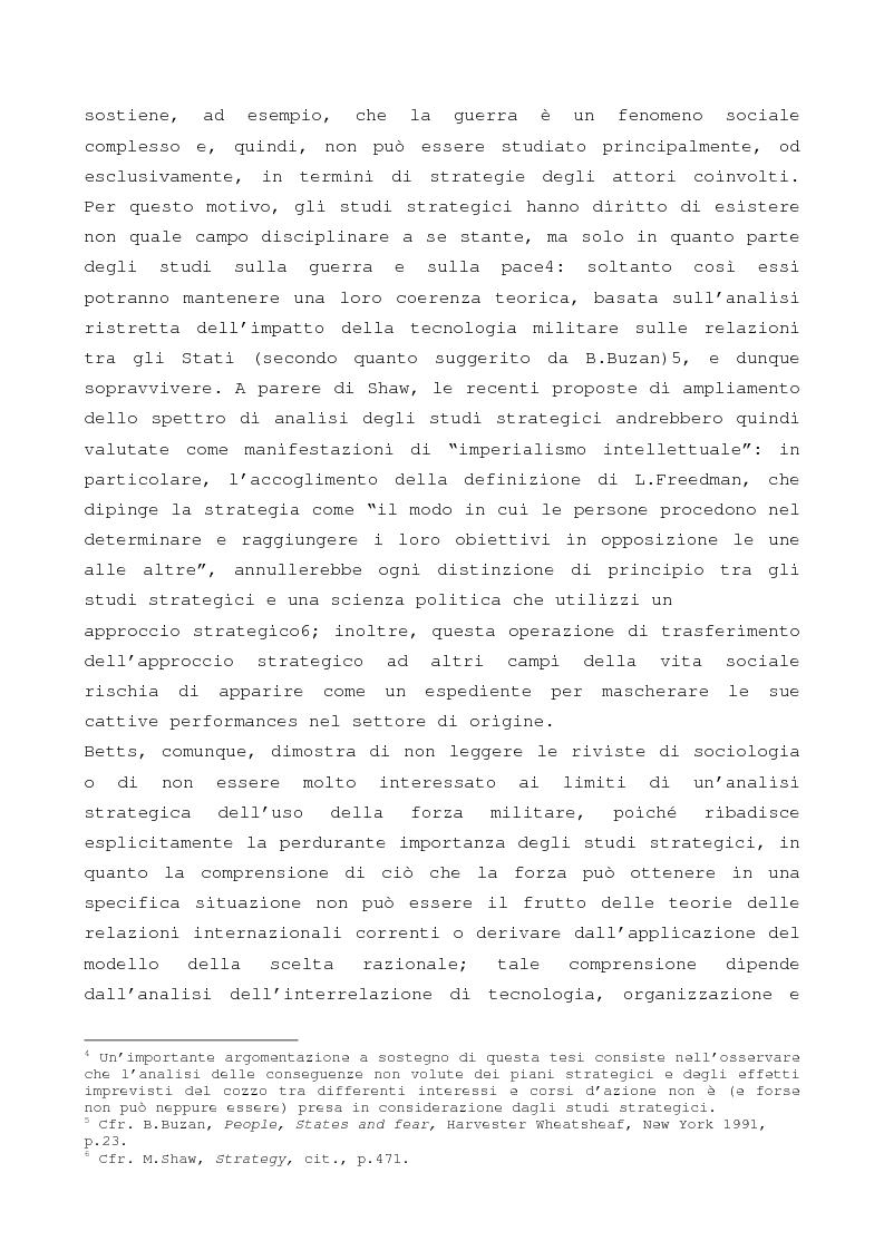 Anteprima della tesi: Gi studi strategici e sulla sicurezza tra passato, presente e futuro: una, nessuna o due scienze autonome?, Pagina 3