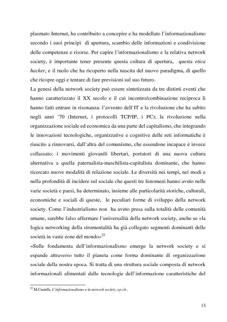 Anteprima della tesi: Il Peer-to-Peer e la rivoluzione della network society, Pagina 12