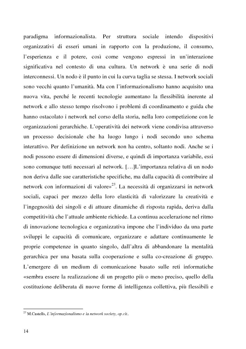 Anteprima della tesi: Il Peer-to-Peer e la rivoluzione della network society, Pagina 13