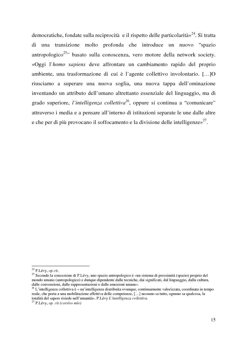 Anteprima della tesi: Il Peer-to-Peer e la rivoluzione della network society, Pagina 14