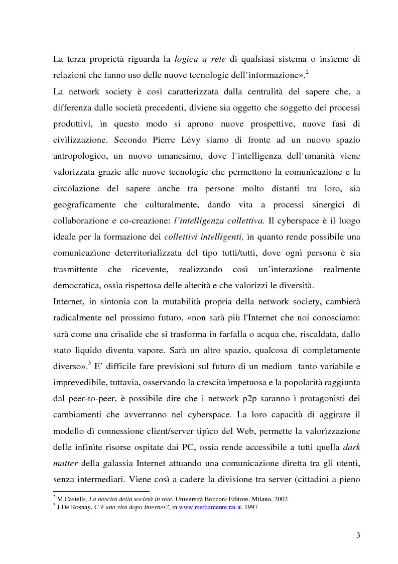 Anteprima della tesi: Il Peer-to-Peer e la rivoluzione della network society, Pagina 2