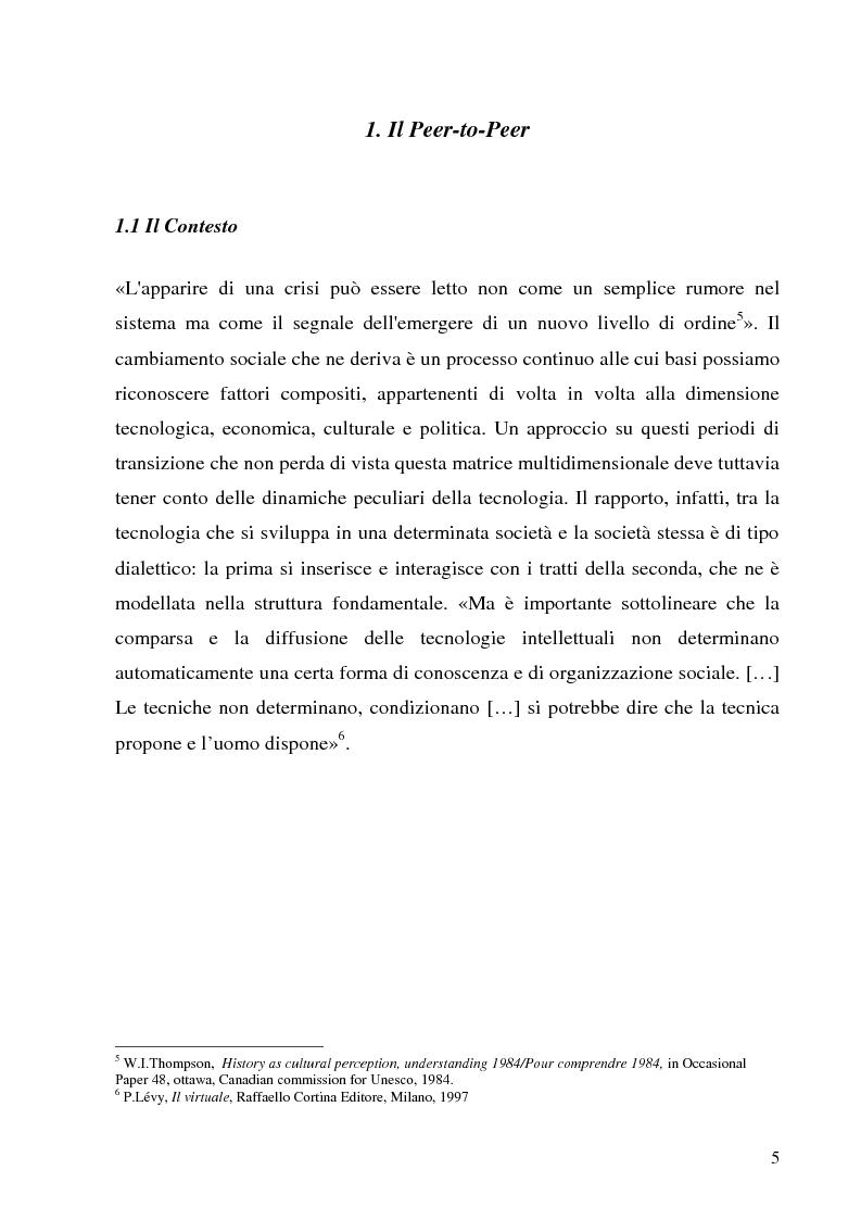 Anteprima della tesi: Il Peer-to-Peer e la rivoluzione della network society, Pagina 4