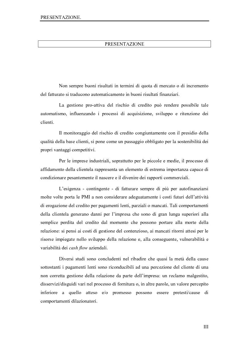 Anteprima della tesi: La gestione del rischio dei crediti commerciali come strumento di marketing delle imprese industriali, Pagina 1
