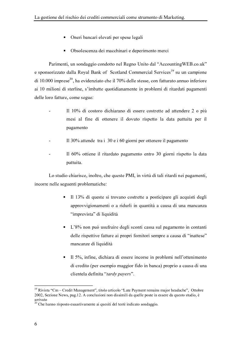 Anteprima della tesi: La gestione del rischio dei crediti commerciali come strumento di marketing delle imprese industriali, Pagina 11