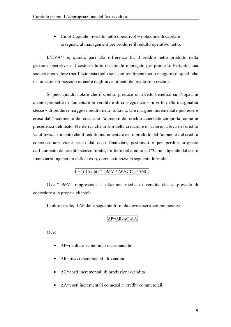 Anteprima della tesi: La gestione del rischio dei crediti commerciali come strumento di marketing delle imprese industriali, Pagina 14