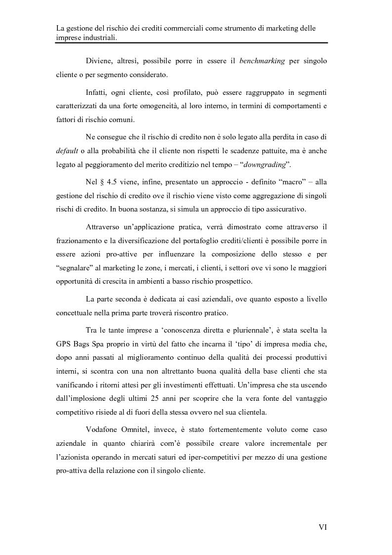 Anteprima della tesi: La gestione del rischio dei crediti commerciali come strumento di marketing delle imprese industriali, Pagina 4