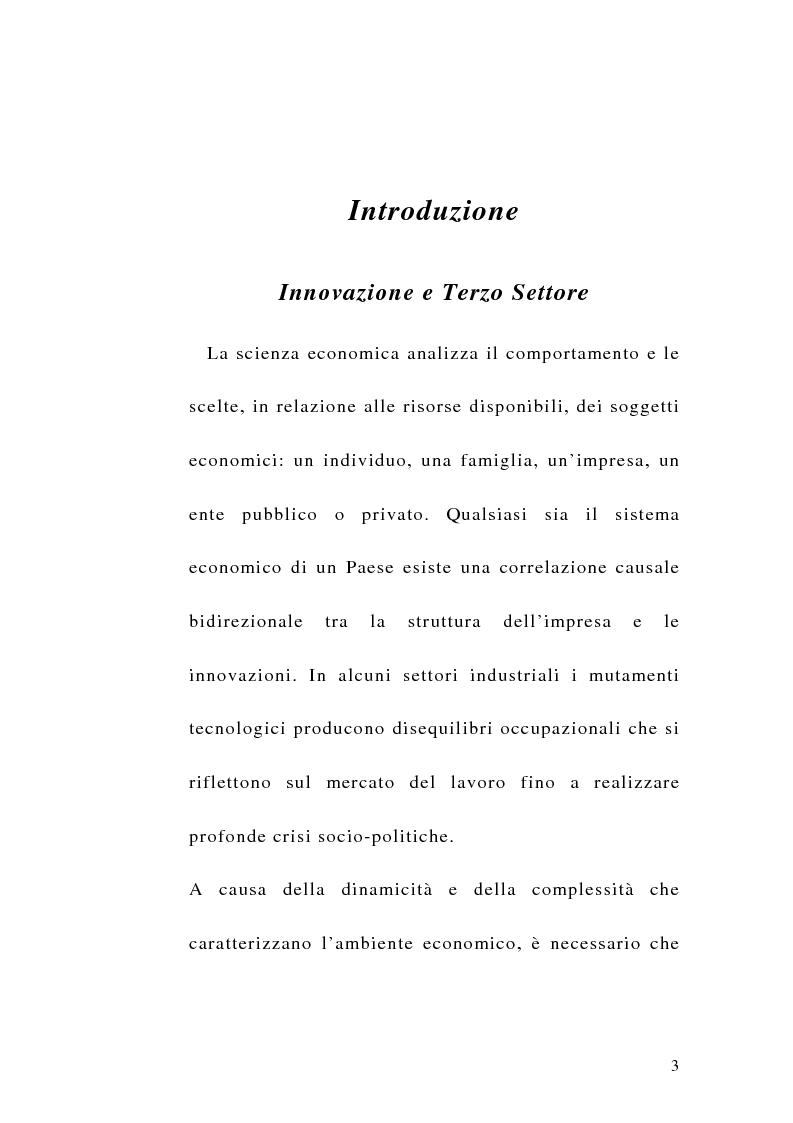 Anteprima della tesi: La sfida del terzo settore tra stato e mercato, Pagina 1
