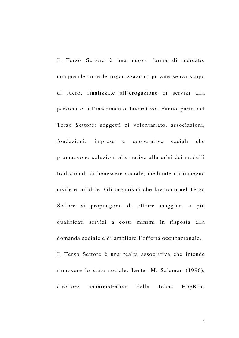 Anteprima della tesi: La sfida del terzo settore tra stato e mercato, Pagina 6