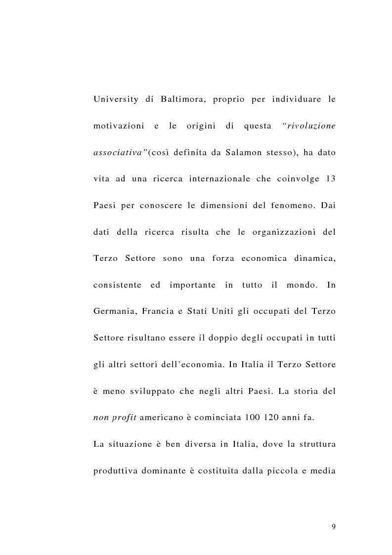Anteprima della tesi: La sfida del terzo settore tra stato e mercato, Pagina 7