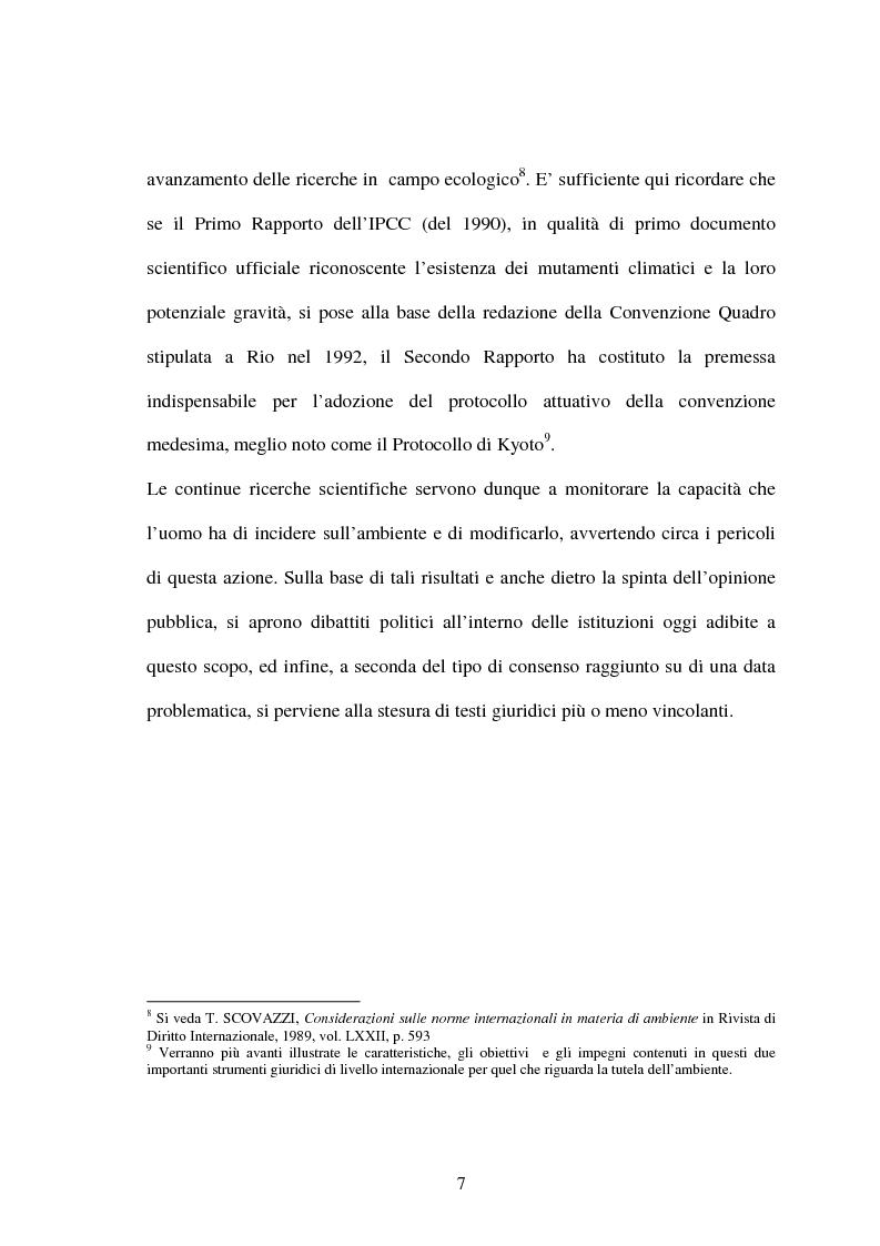 Anteprima della tesi: Le Convenzioni di Rio ed il Protocollo di Kyoto: sinergie e questioni di compatibilità, Pagina 7