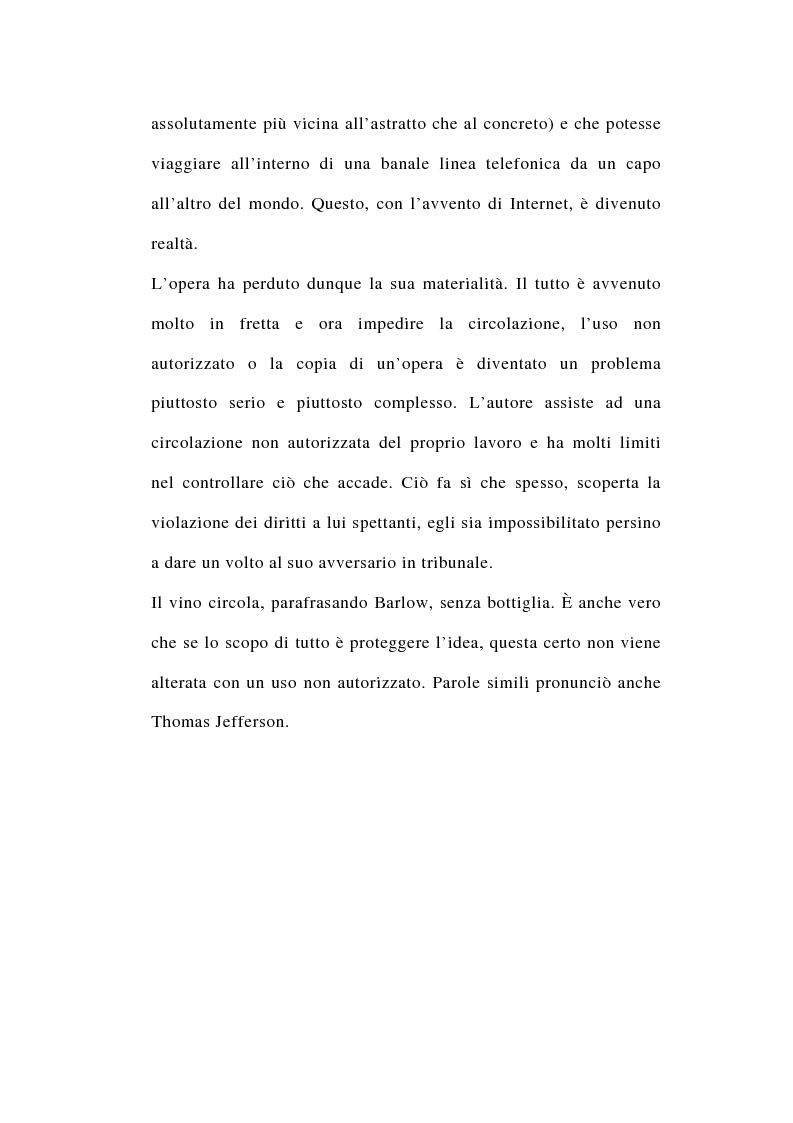 Anteprima della tesi: I rapporti tra file-sharing e diritto d'autore: aspetti nazionali ed internazionali, Pagina 6