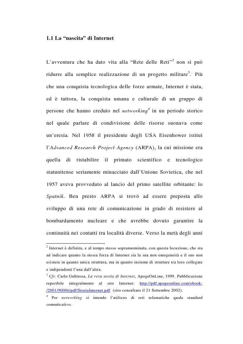 Anteprima della tesi: I rapporti tra file-sharing e diritto d'autore: aspetti nazionali ed internazionali, Pagina 8