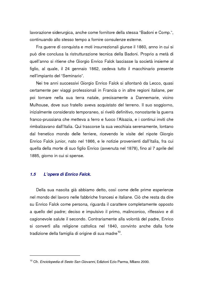 Anteprima della tesi: Quando l'acciaio è un affare di famiglia. Storia dei Falck, Pagina 15