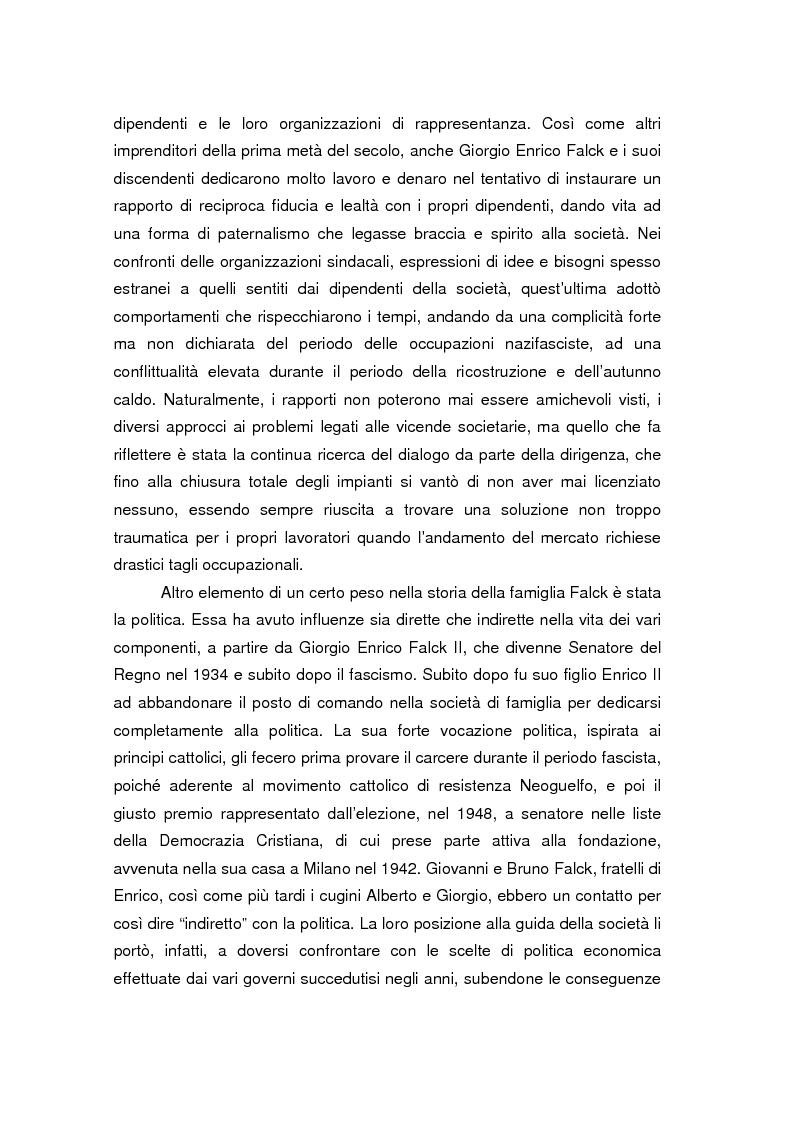 Anteprima della tesi: Quando l'acciaio è un affare di famiglia. Storia dei Falck, Pagina 3