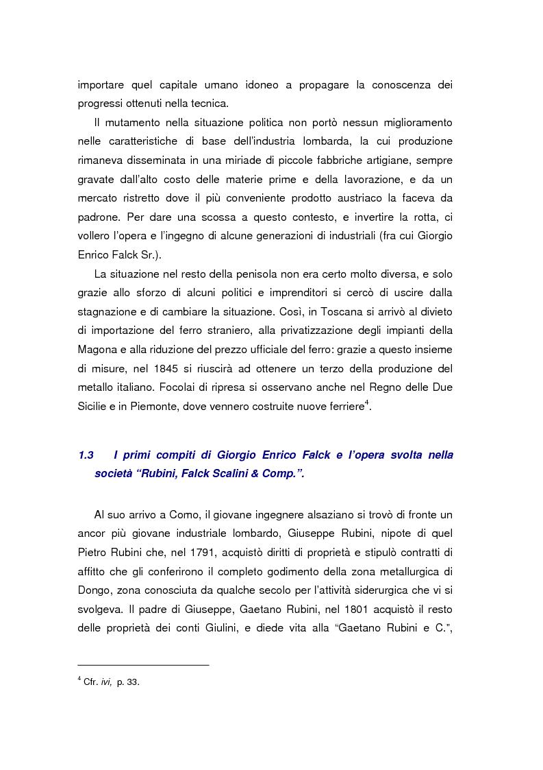 Anteprima della tesi: Quando l'acciaio è un affare di famiglia. Storia dei Falck, Pagina 8