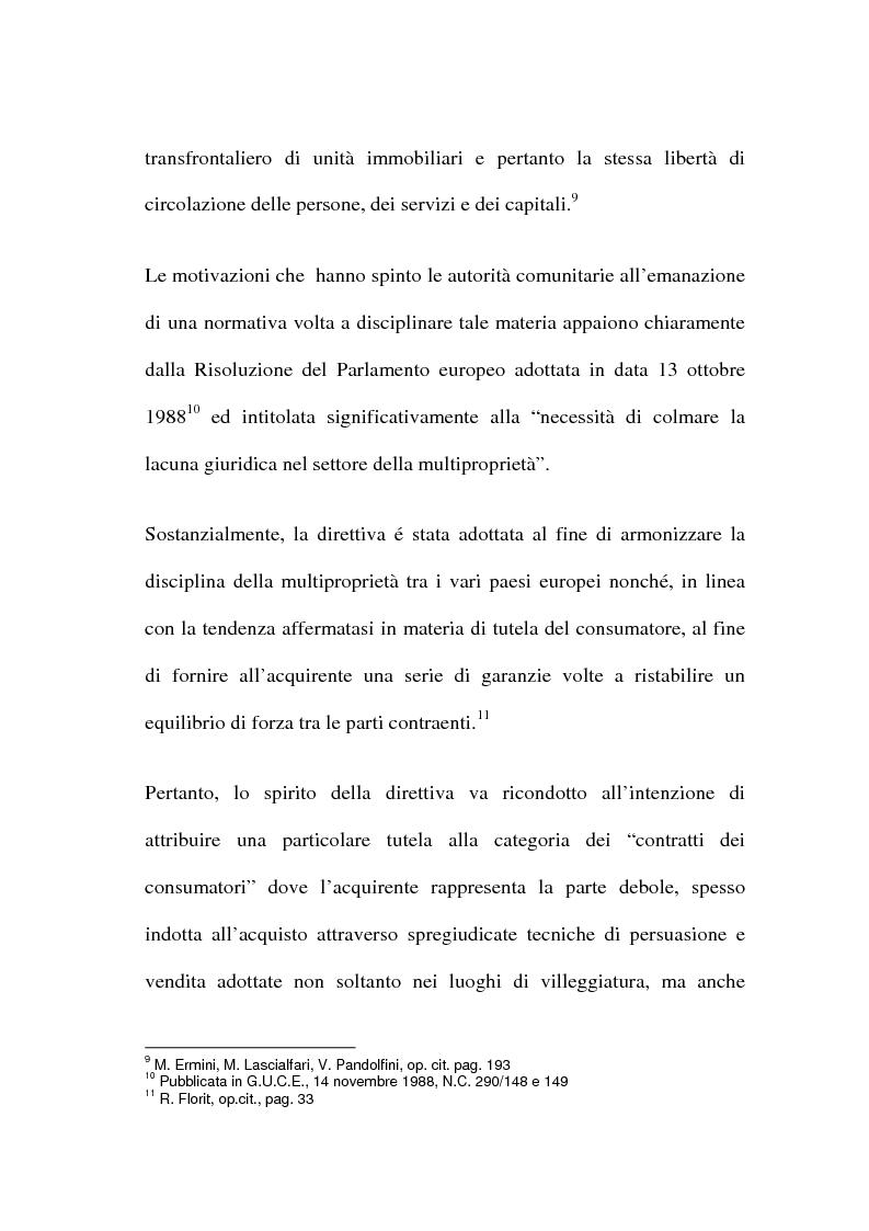 Anteprima della tesi: La multiproprietà: comparazione tra il diritto italiano ed il diritto spagnolo, Pagina 10