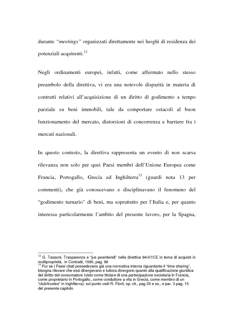 Anteprima della tesi: La multiproprietà: comparazione tra il diritto italiano ed il diritto spagnolo, Pagina 11