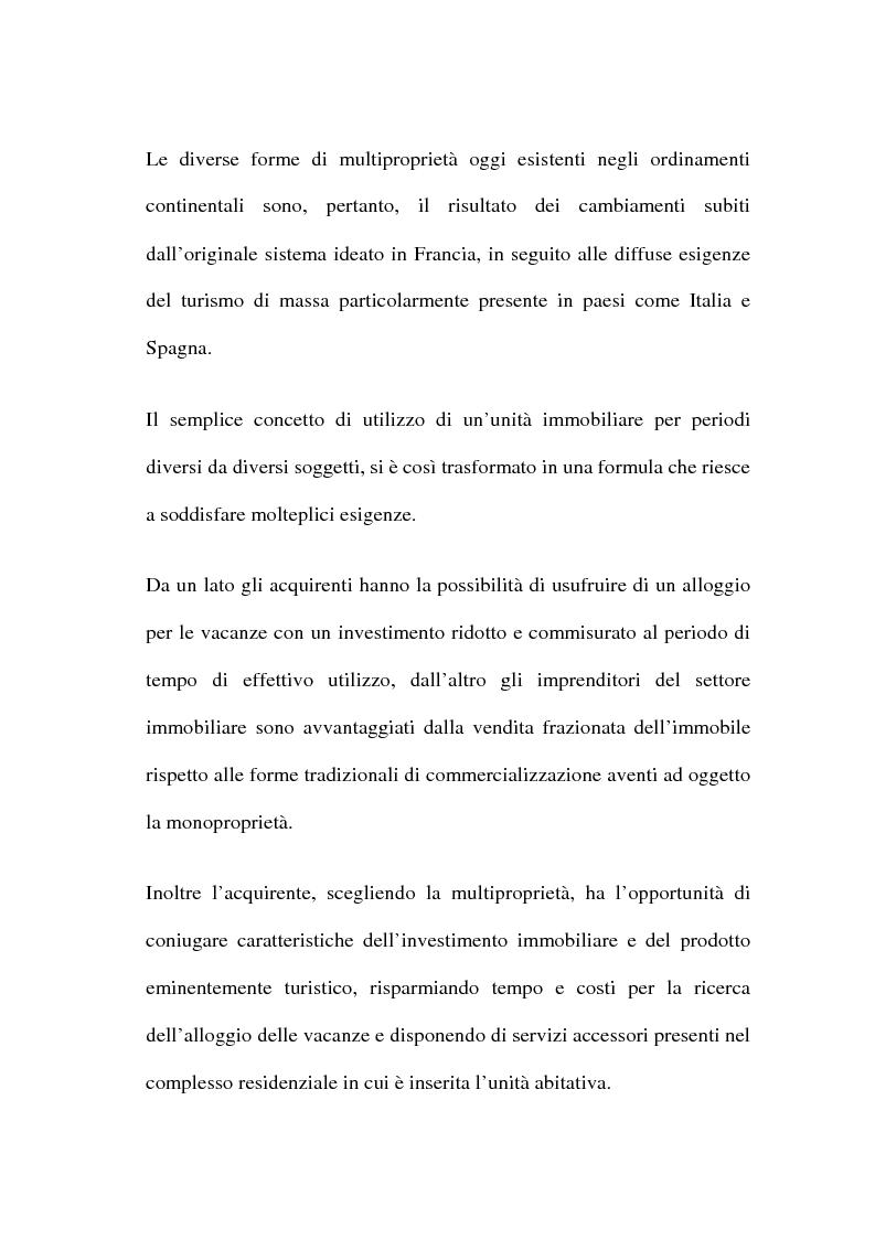 Anteprima della tesi: La multiproprietà: comparazione tra il diritto italiano ed il diritto spagnolo, Pagina 4