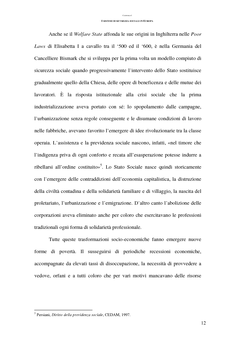 Anteprima della tesi: La previdenza complementare nei sistemi di sicurezza sociale europei, Pagina 12