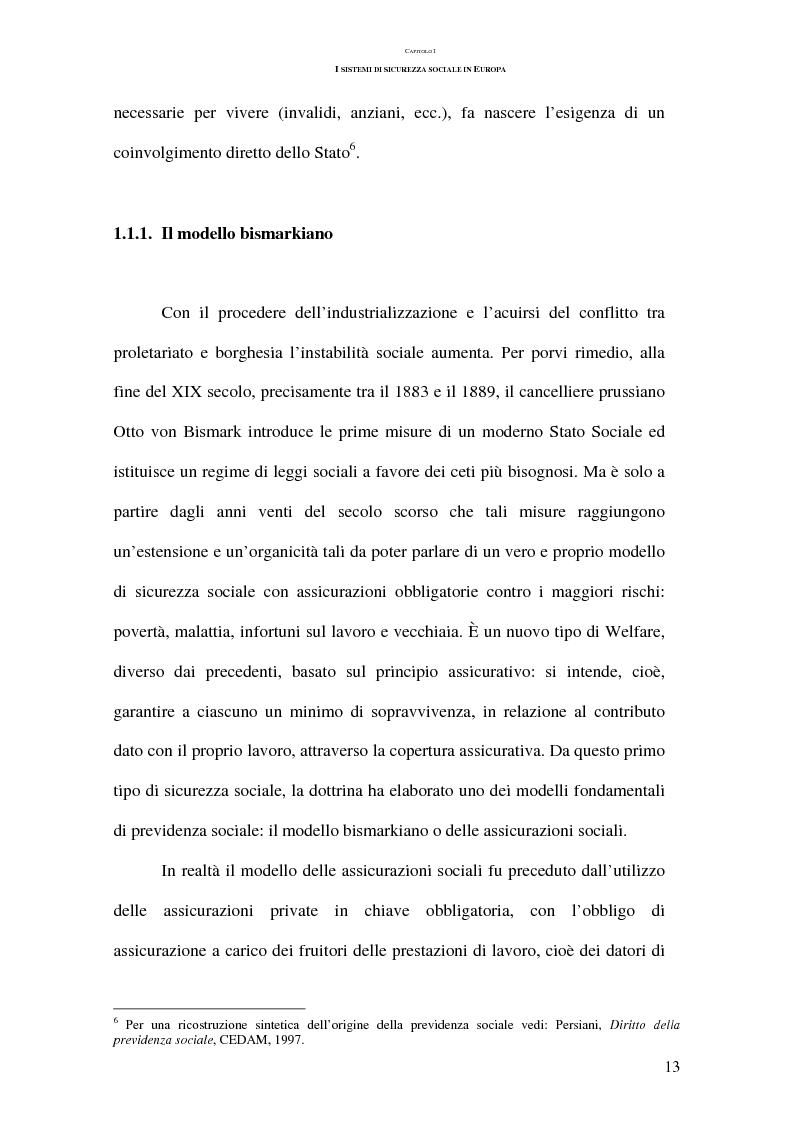 Anteprima della tesi: La previdenza complementare nei sistemi di sicurezza sociale europei, Pagina 13