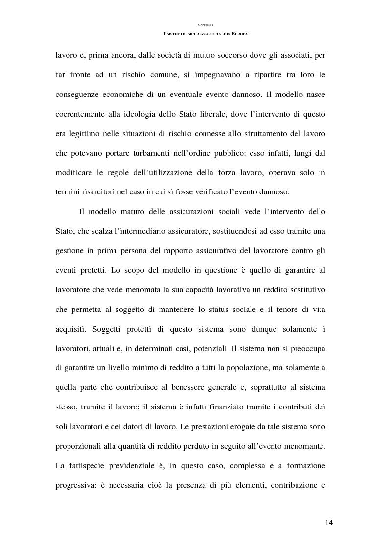 Anteprima della tesi: La previdenza complementare nei sistemi di sicurezza sociale europei, Pagina 14