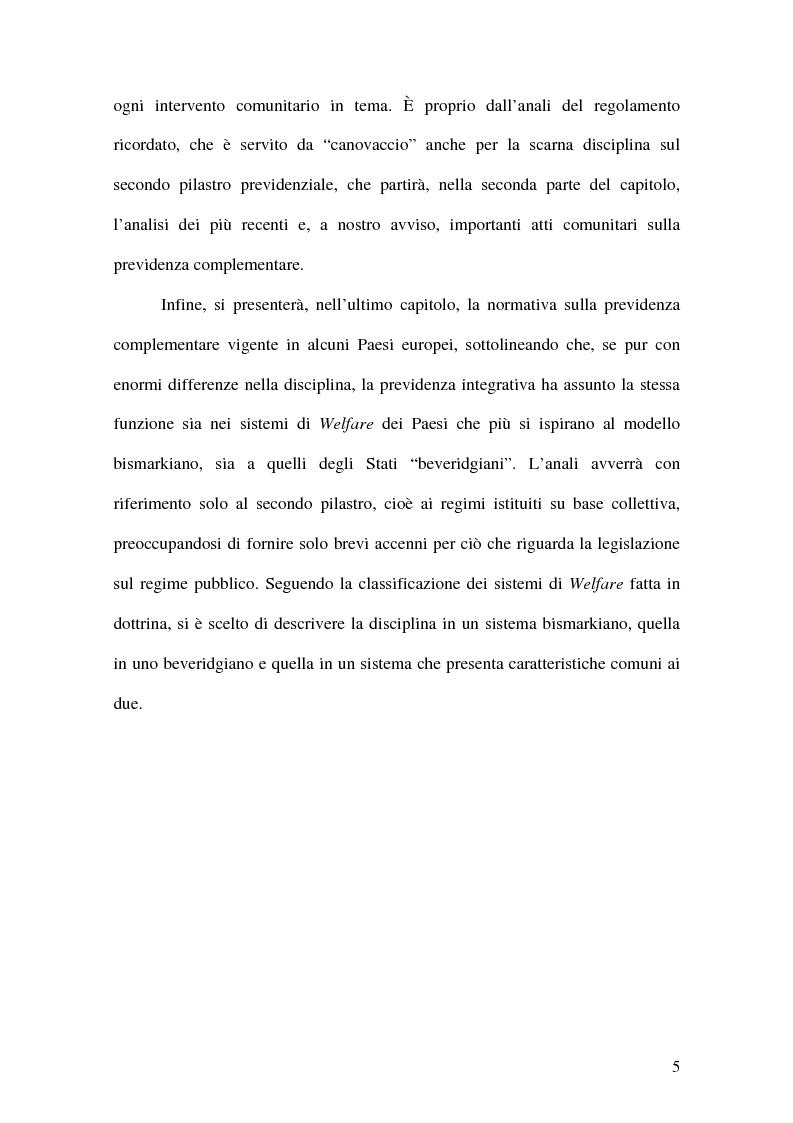 Anteprima della tesi: La previdenza complementare nei sistemi di sicurezza sociale europei, Pagina 5