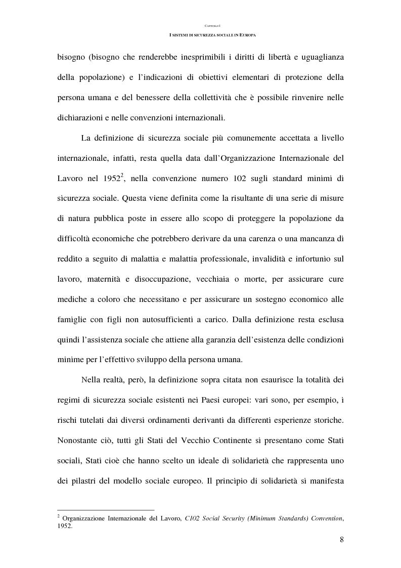 Anteprima della tesi: La previdenza complementare nei sistemi di sicurezza sociale europei, Pagina 8