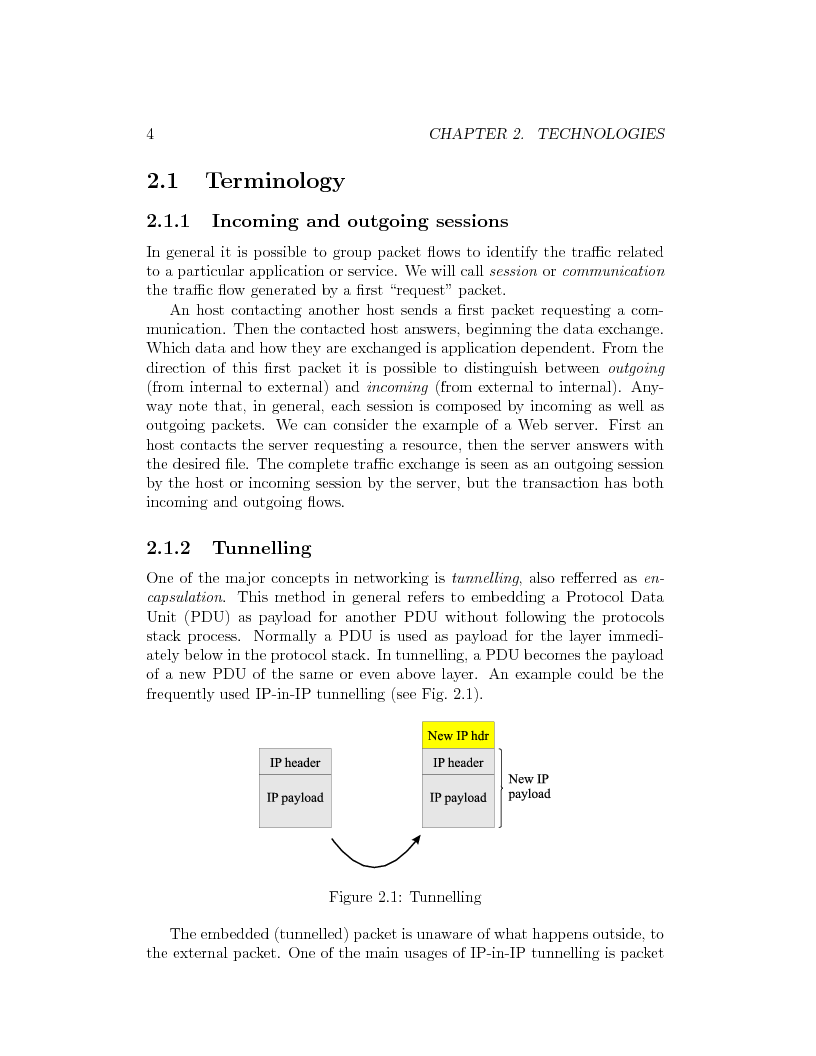 Anteprima della tesi: IP Mobility Support for Virtual Private Networks, Pagina 4