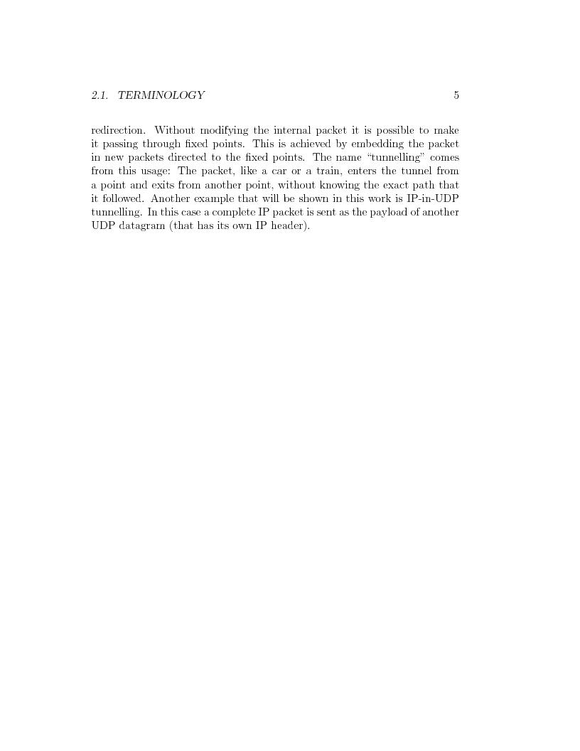 Anteprima della tesi: IP Mobility Support for Virtual Private Networks, Pagina 5