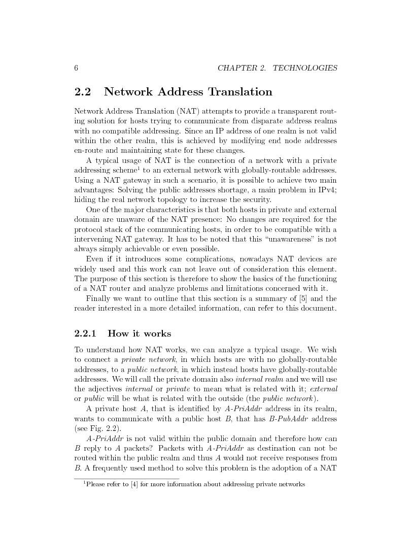 Anteprima della tesi: IP Mobility Support for Virtual Private Networks, Pagina 6