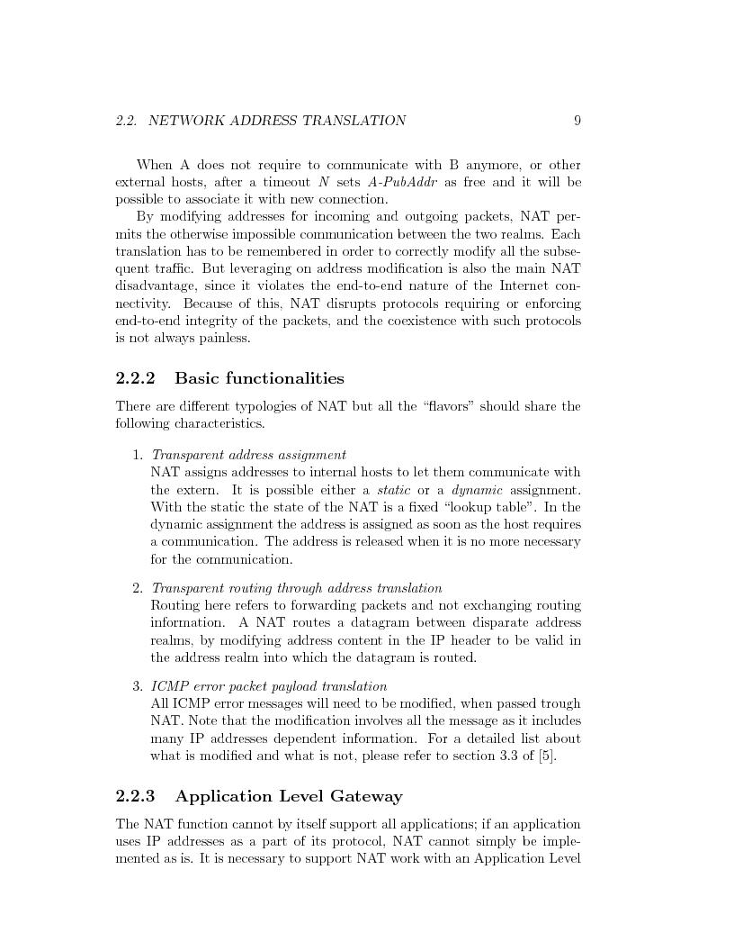 Anteprima della tesi: IP Mobility Support for Virtual Private Networks, Pagina 9