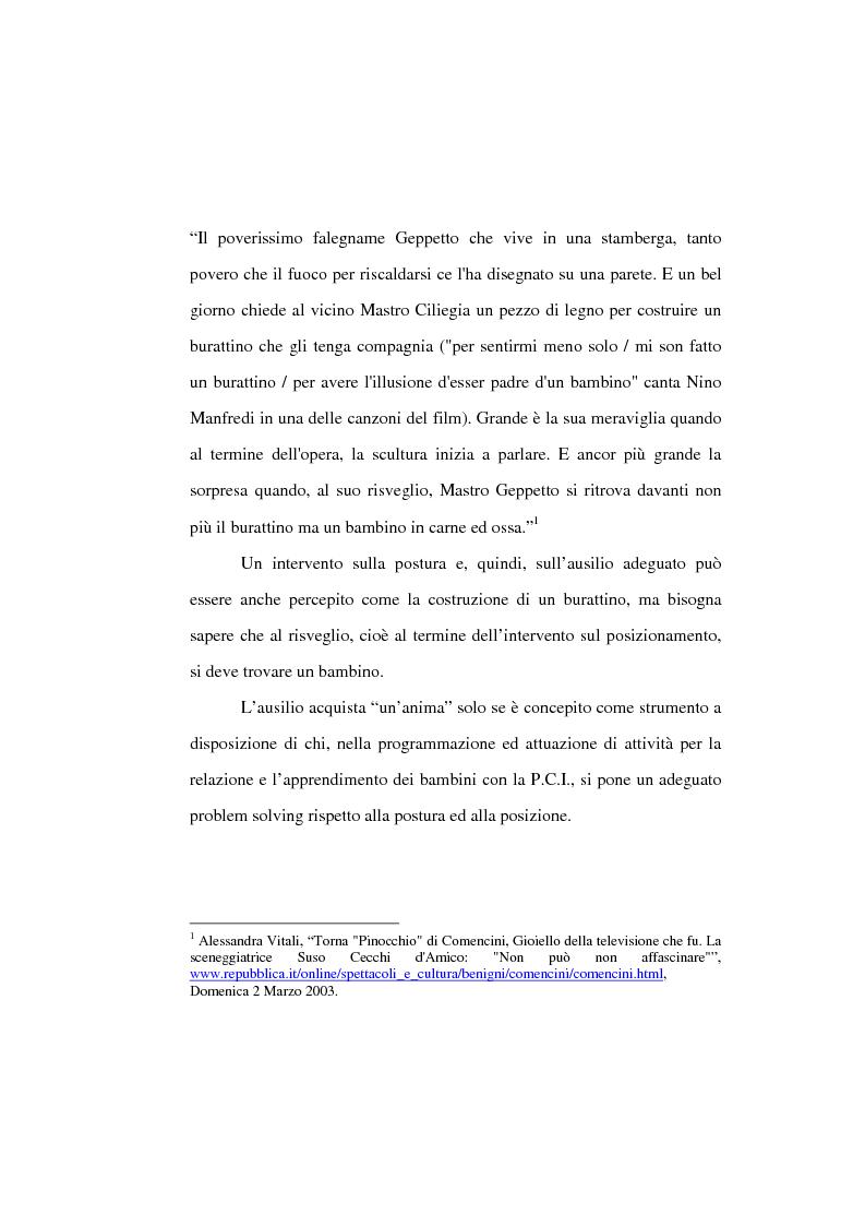 Anteprima della tesi: L'uso di posture corrette e posizioni adeguate nella gestione complessa ed articolata delle paralisi cerebrali infantili, Pagina 7