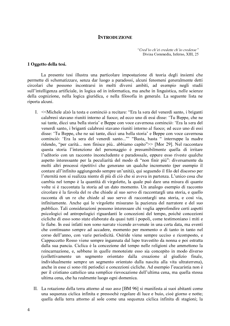 Anteprima della tesi: L'autoriferimento in teoria degli insiemi, Pagina 1