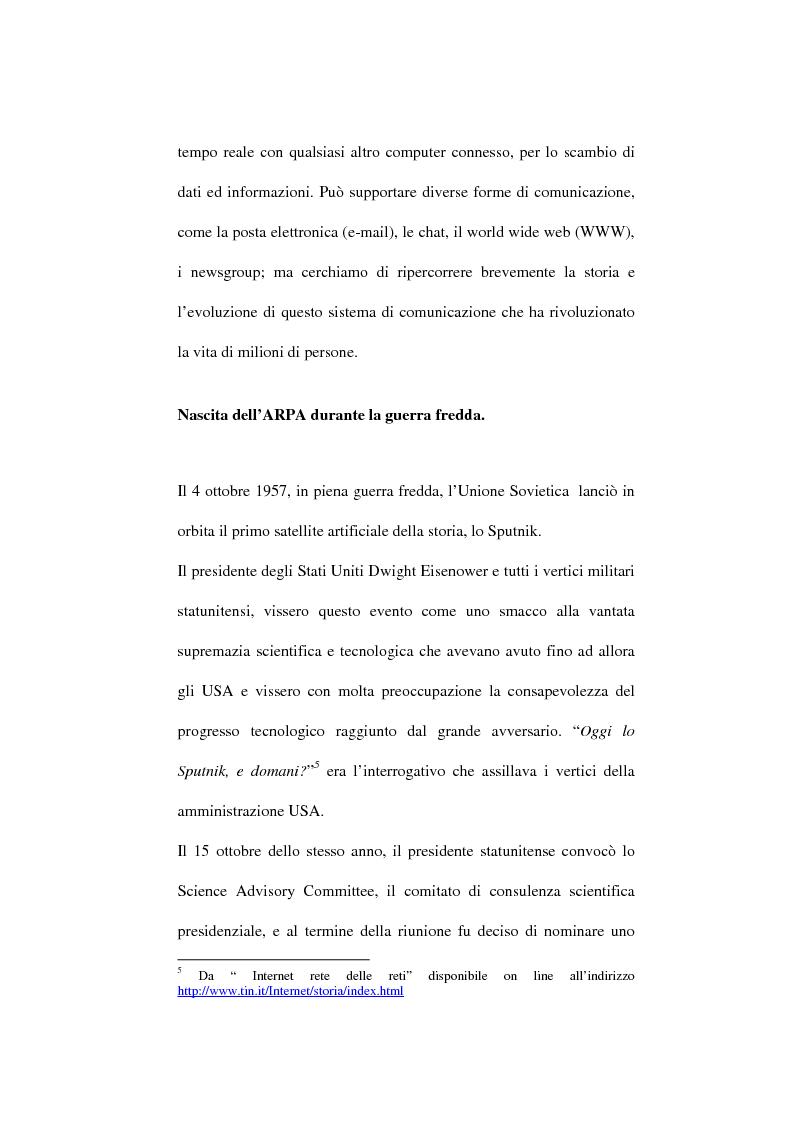 Anteprima della tesi: Internet e la pubblica amministrazione. Problematiche e norme senza confini?, Pagina 8